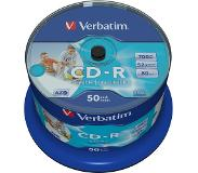 Verbatim CD-R AZO Wide Inkjet Printable no ID CD-R 700MB 50stuk(s)