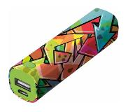 Urban Revolt Graffiti 2600mAh Multi kleuren powerbank