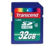Transcend TS32GSDHC4 32GB SDHC Class 4 flashgeheugen
