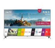 "LG 43UJ651V 43"" 4K Ultra HD Smart TV Wi-Fi Musta, Hopea LED-televisio"