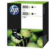 HP 300XL originele high-capacity zwarte inktcartridges, 2-pack