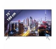Samsung UE75MU7009 LED-TV 189 cm 75 inch Energielabel A Twin DVB-T2/C/S2, UHD, Smart TV, WiFi, PVR ready Zilver