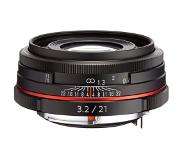 Pentax HD DA 21mm F3.2 AL Limited SLR Wide lens Zwart