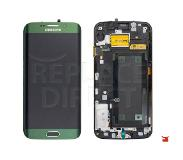 Samsung Galaxy S6 Edge LCD + Digitizer Assembly - Groen voor Samsung Galaxy S6 Edge SM-G925F