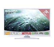 "Salora 28LED9112CSW 28"" HD-ready Smart TV Blanc écran LED"