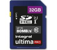 Integral 32GB SDHC UltimaPro 32GB SDHC UHS-I Luokan 10 flash-muisti