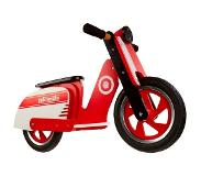 Kiddimoto Loopfiets Kiddimoto Scooter Red/White