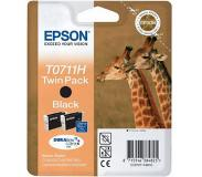 Epson Dubbelpack Inktpatroon Black T0711H, duoverpakking T0711H DURABrite Ultra Ink
