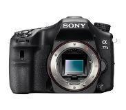 Sony A-tyypin α77 II -kamera, jossa APS-C-kenno Vain runko