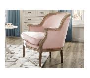 Vente fauteuil van fluweel alienor pastel - Www vente unique com ...
