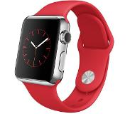 Apple Watch 38mm Stainless Steel Red Sport Band
