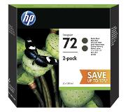 HP - P2V33A - 72 - Inktcartridge zwart