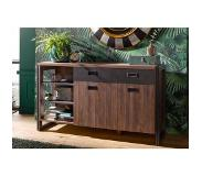 Home affaire sideboard »Detroit«, breedte 150 cm, in een trendy industrial-look