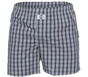 Deal Boxershort check grey, Extra large (Blauw, XL)