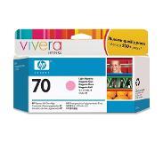 HP 70 licht-magenta inktcartridge met Vivera inkt, 130 ml