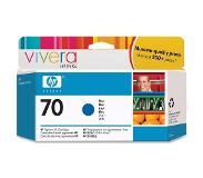 HP 70 blauwe inktcartridge met Vivera inkt, 130 ml
