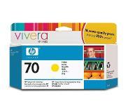 HP 70 gele inktcartridge met Vivera inkt, 130 ml