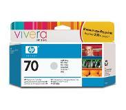 HP 70 lichtgrijze inktcartridge met Vivera inkt, 130 ml