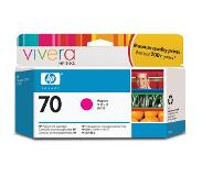 HP 70 magenta inktcartridge met Vivera inkt, 130 ml
