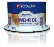 Verbatim DVD+R Double Layer Inkjet Printable 8x Life Series 8.5GB DVD+R DL 50stuk(s)