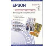 Epson WaterColor Paper - Radiant White, DIN A3+, 190g/m², 20 Vel