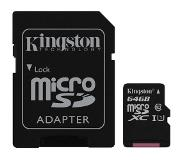 Kingston Canvas Select 64GB MicroSD UHS-I Klasse 10 flashgeheugen