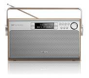 Philips AE5220 Kannettava Digitaalinen Metallinen, Puu radio