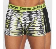 Zaccini 2-PACK BOXERSHORTS CURVE LIME, Small (Blauw, Wit, Small)