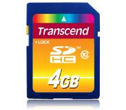 Transcend TS4GSDHC10 4GB SDHC Class 10 flashgeheugen