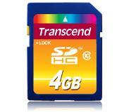 Transcend TS4GSDHC10 4GB SDHC Class 10 flashgeheugen