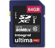 Integral 64GB SDXC UltimaPro flashgeheugen Klasse 10 UHS-I