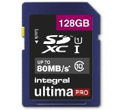 Integral 128GB SDXC UltimaPro flashgeheugen Klasse 10 UHS-I