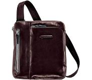 Piquadro Blue Square iPad Shoulder Pocketbook mahogany