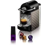 Krups Nespresso Krups Pixie XN3005 Electric Titanium Pod coffee machine 0.8l Zwart
