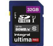 Integral 32GB SDHC UltimaPro flashgeheugen Klasse 10 UHS-I