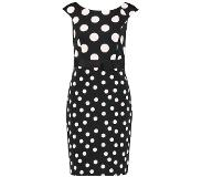 S.oliver Black Label Jurk van scuba, met all-over print
