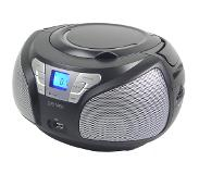 Denver TCU-206BLACK Personal CD player Zwart, Grijs