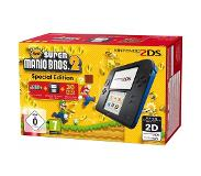 "Nintendo 2DS + New Super Mario Bros 2 Special Edition 3.53"" Touchscreen Wi-Fi Zwart, Blauw draagbare game console"