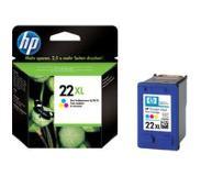 HP 22XL originele high-capacity drie-kleuren inktcartridge