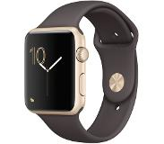 Apple Watch 42mm Gold Aluminium with Cocoa Sport Band