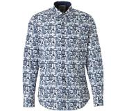 A Fish Named Fred regular fit overhemd Wit/blauw 2XL