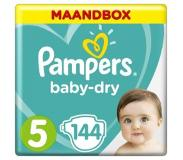 Pampers Baby Dry Maat-5 Junior 11-23kg Maandbox 144-Luiers 144luier