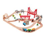 Hape Houten trein double loop set