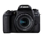 Canon EOS 77D + 18-55mm F4.0-5.6 IS STM 24.2MP CMOS 6000 x 4000Pixels Zwart