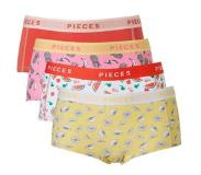 Pieces short (set van 4) Roze/geel 40 (L)