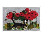 Rosina Wachtmeister Loper, »Poppywalk by«, wasbaar, in- en outdoor