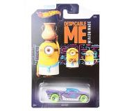 Hot wheels Despicable Me Minions auto Jester paars 6 cm