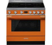 Smeg CPF9IPOR Freestanding cooker Table de cuisson à induction A+ Orange four et cuisinière