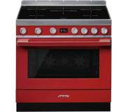 Smeg CPF9IPR Freestanding cooker Table de cuisson à induction A+ Rouge four et cuisinière