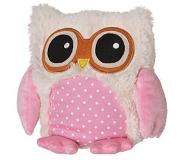 Warmies Magnetronknuffel Uil Roze 22cm